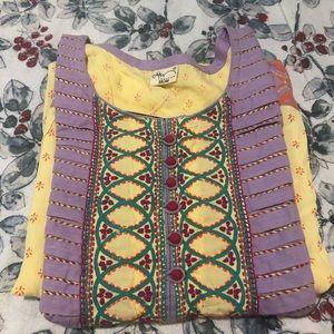 Brand NEW hand embroidered kurti (tunic)